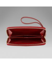 low priced ad9c7 39e5d Smythson Iphone 6 Purse in Red - Lyst