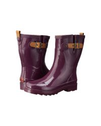Chooka | Purple Top Solid Mid Rain Boot | Lyst