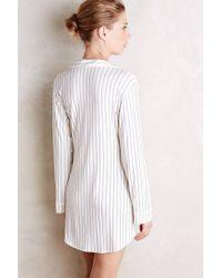 Eberjey - Blue Striped Sleep Shirt - Lyst
