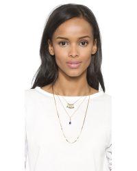 Serefina - Metallic Lapis Layered Necklace - Gold/Lapis - Lyst