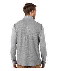 Calvin Klein | Gray Interlock Textured 1/4 Zip Sweatshirt for Men | Lyst