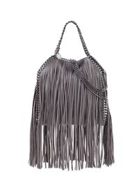 Stella McCartney - Gray Falabella Mini Fringe Tote Bag - Lyst