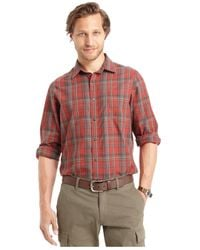 G.H. Bass & Co. | Long Sleeve Plaid Textured Shirt for Men | Lyst