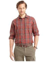 G.H. Bass & Co. | Long Sleeve Plaid Textured Shirt for Men | Lyst