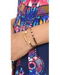 Tai - Metallic Moonstone Stacked Bracelets - Lyst