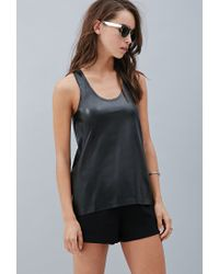 Forever 21 | Black Private Archives Perforated Tank | Lyst