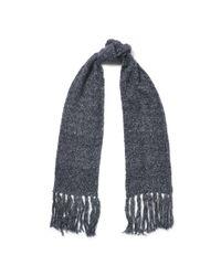 Ralph Lauren   Gray Honeycomb Wool-blend Scarf   Lyst