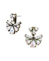 BaubleBar | Metallic 'flutter' Ear Jackets - Iridescent/ Antique Gold | Lyst