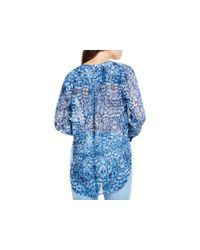 Two By Vince Camuto - Blue Oasis Rhapsody Printed Blouse - Lyst