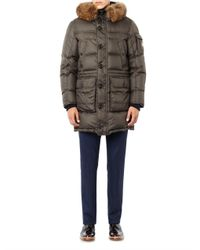 Moncler - Green Affton Fur-Trimmed Parka for Men - Lyst