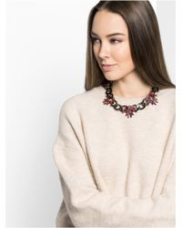 BaubleBar - Metallic Pink Feather Curb Collar - Lyst