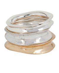 Robert Lee Morris | Metallic Two-tone Stacked Ring Set | Lyst