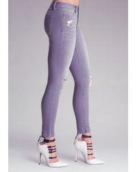 Bebe | Blue Heartbreaker Skinny Jeans | Lyst