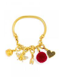 BaubleBar | Metallic Chained Up Charm Bracelet | Lyst