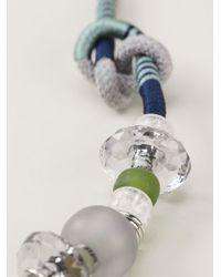 Emporio Armani - Blue Bead Necklace - Lyst