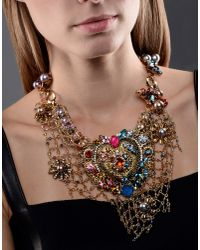 Vickisarge - Metallic Necklace - Lyst