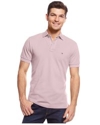 Tommy Hilfiger - Purple Custom-fit Ivy Polo for Men - Lyst