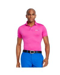 Ralph Lauren | Pink Tailored-fit Polo Shirt for Men | Lyst