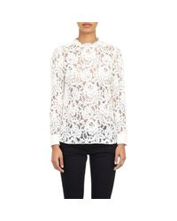Saint Laurent | White Lace Blouse | Lyst