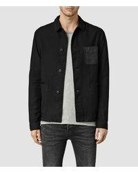AllSaints - Black Bassett Jacket for Men - Lyst