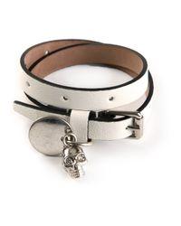 Alexander McQueen | White Wraparound Bracelet | Lyst