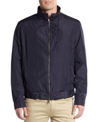 Saks Fifth Avenue - Blue Hooded Golf Jacket for Men - Lyst