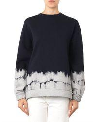 Stella McCartney - Blue Cotton-Blend Sweatshirt - Lyst
