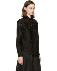 Marc Jacobs - Black Broderie Anglaise Shirt - Lyst