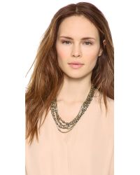 Giles & Brother - Metallic Pave Bundle Necklace - Lyst