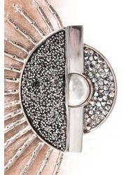 Fendi | Pink Fur and Crystal Brooch | Lyst