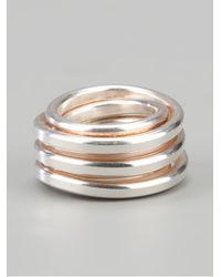 Werkstatt:münchen - Metallic Wound Ring for Men - Lyst