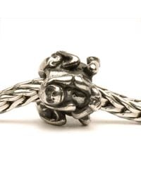 Trollbeads | Metallic Three Monkeys Silver Charm Bead | Lyst