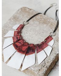Free People - Red Lost In The Abyss Enamel Collar - Lyst