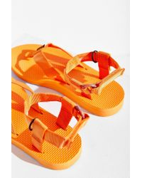 Teva | Orange Original Marbled Sandal | Lyst