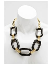 Kenneth Jay Lane | Women's Black And Gold Big Link Necklace | Lyst
