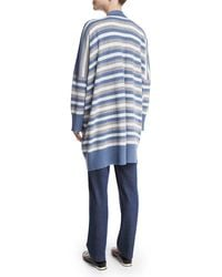 Eskandar | Blue Oversized Striped Cashmere Cardigan | Lyst
