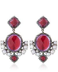 Larkspur & Hawk - Pink Amethyst Earrings - Lyst