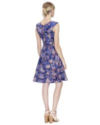 Rebecca Taylor | Purple Sonic Garden V-neck Dress | Lyst