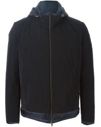 Herno - Blue Padded Zip Jacket for Men - Lyst