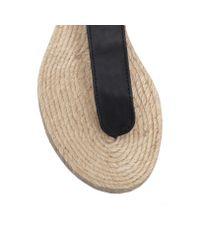 Kurt Geiger | Black Marla Flat Sandals | Lyst
