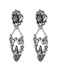 Alexis Bittar | Gray Liquid Crystal Chain Drop Clip Earring | Lyst