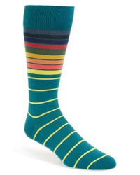 Paul Smith | Green 'sliding Stripe' Socks for Men | Lyst