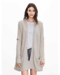 Banana Republic | Gray Todd & Duncan Cashmere Layered Open Cardigan | Lyst