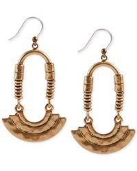 Lucky Brand | Metallic Gold-tone Modern Ring Earrings | Lyst