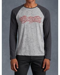 John Varvatos | Gray Aerosmith Graphic Long Sleeve for Men | Lyst