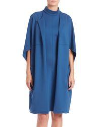 Josie Natori - Blue Fortune Cookie Coat - Lyst