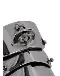 Vivienne Westwood | Metallic Armour Gunmetal Articulated Ring for Men | Lyst