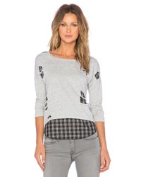 Generation Love - Gray Brooklyn Shred Layered Top - Lyst