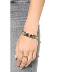 Vita Fede - Metallic Mini Titan Split Two Tone Bracelet - Silver/gold/clear - Lyst
