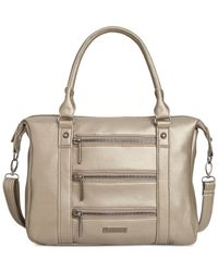 Rampage | Metallic Triple Zip Satchel | Lyst